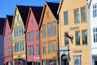 Hus i Bryggen Bergen i Norge
