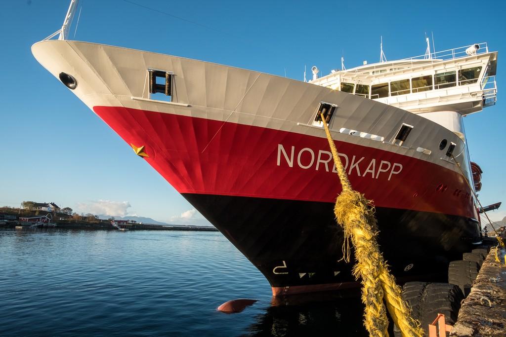 Fartyget MS Nordkapp i Bronnoysund