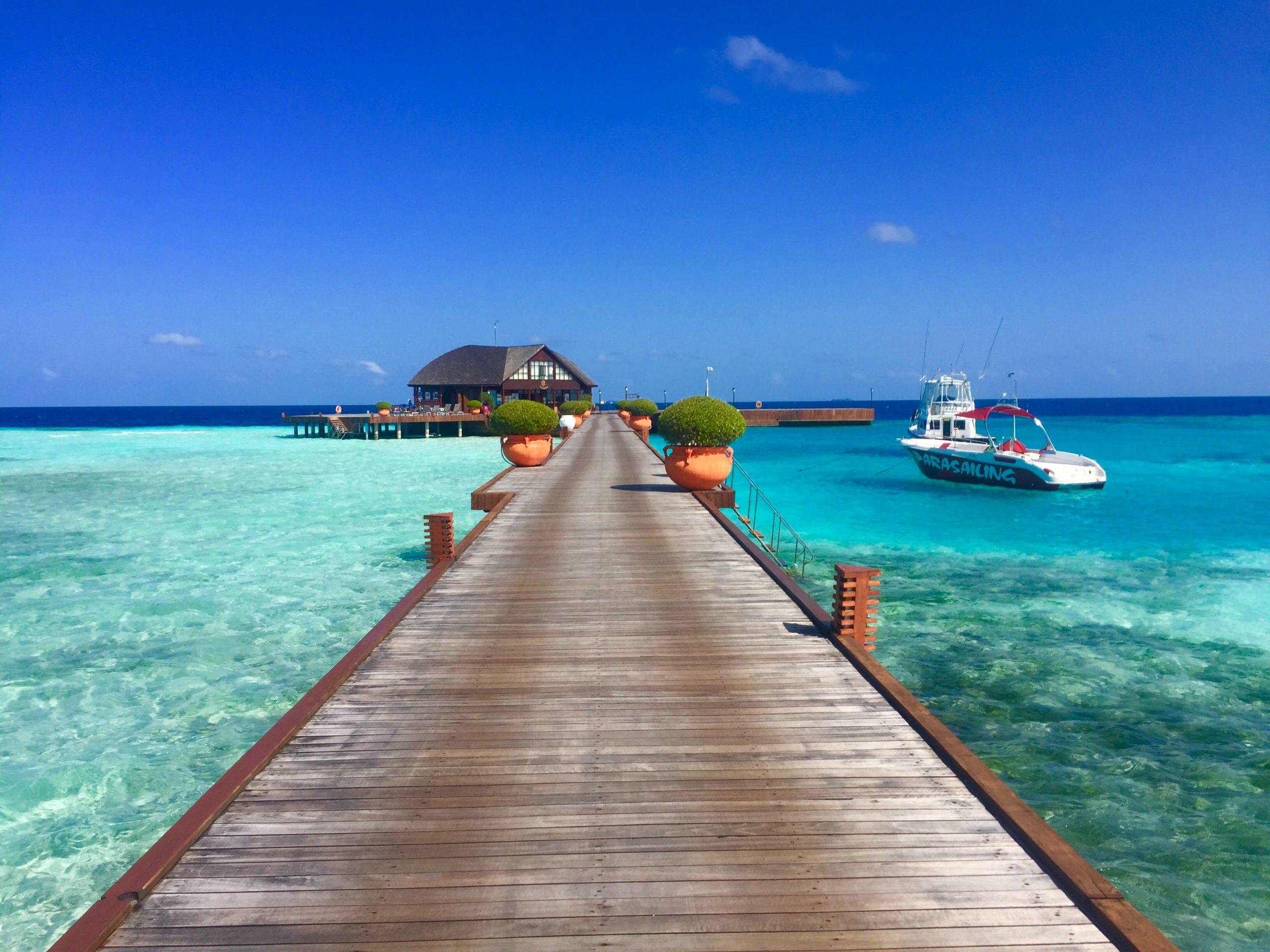 Olhuveli island på Maldiverna