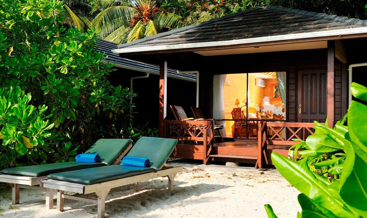 Strandstuga på Maldiverna