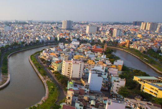 Ho Chi Minh City i Vietnam, Saigon riverside