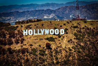 Hollywood skylt Los Angeles USA