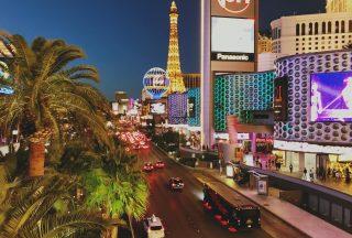 Neonskylar i Las Vegas USA
