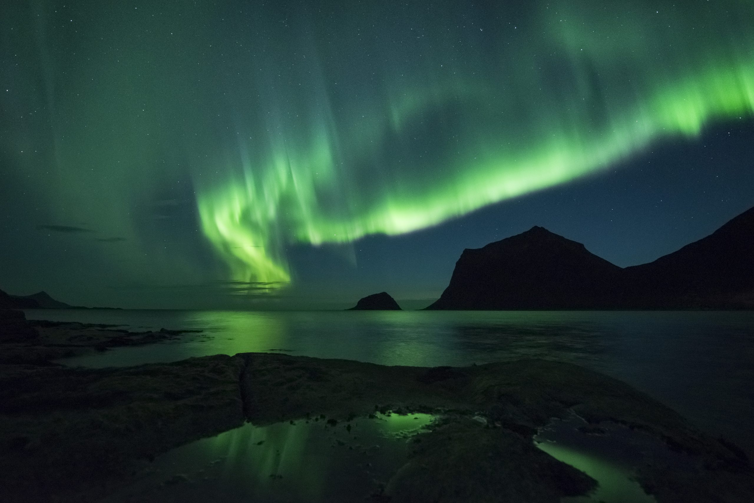 Nordlys/Norrsken i Norge Foto Stian Klo