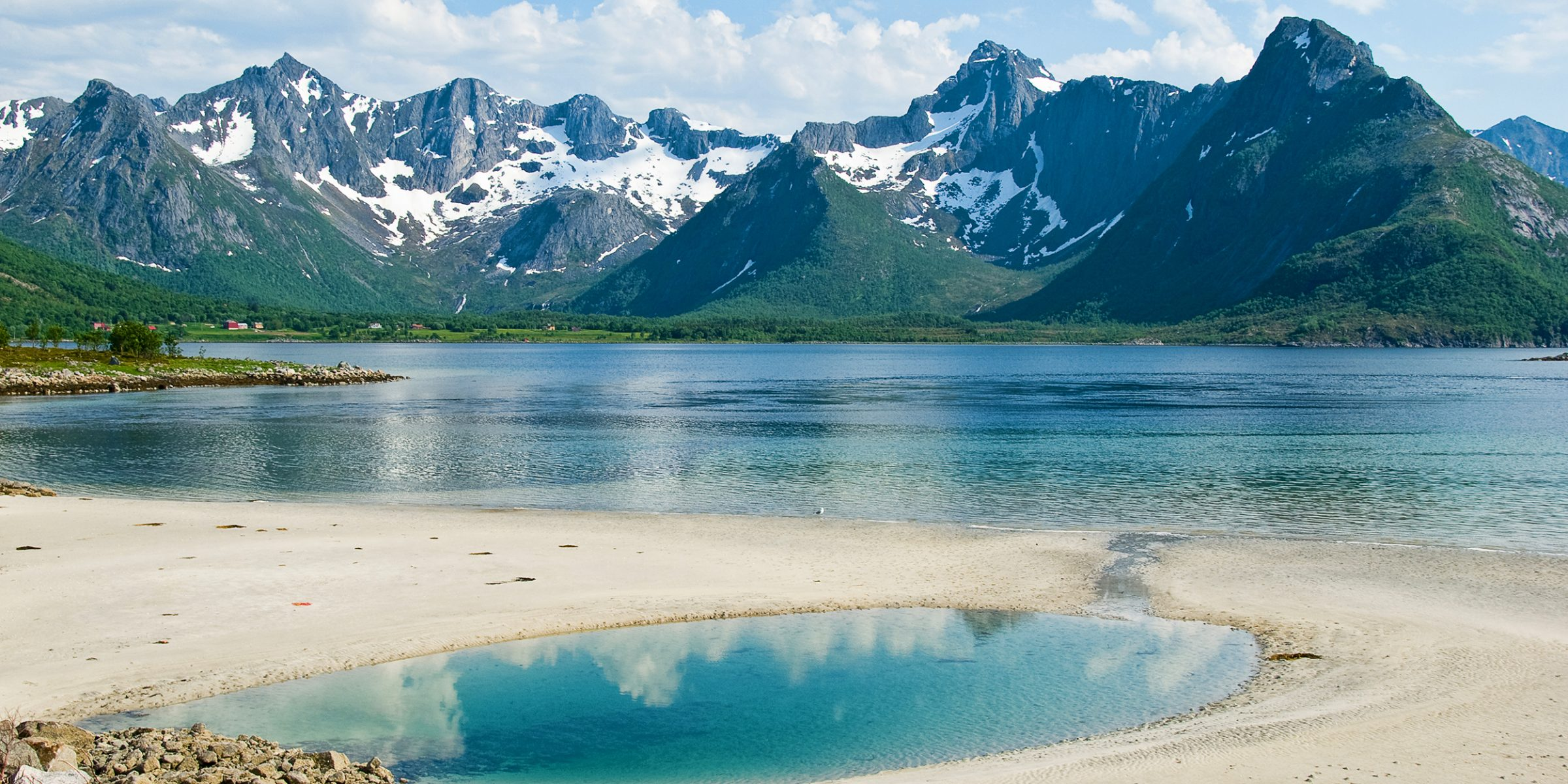 Strand Lofoten Norska Kusten Norge