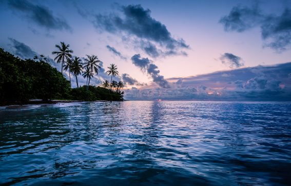 vackert landskap och himmel i Guadeluope Karibien