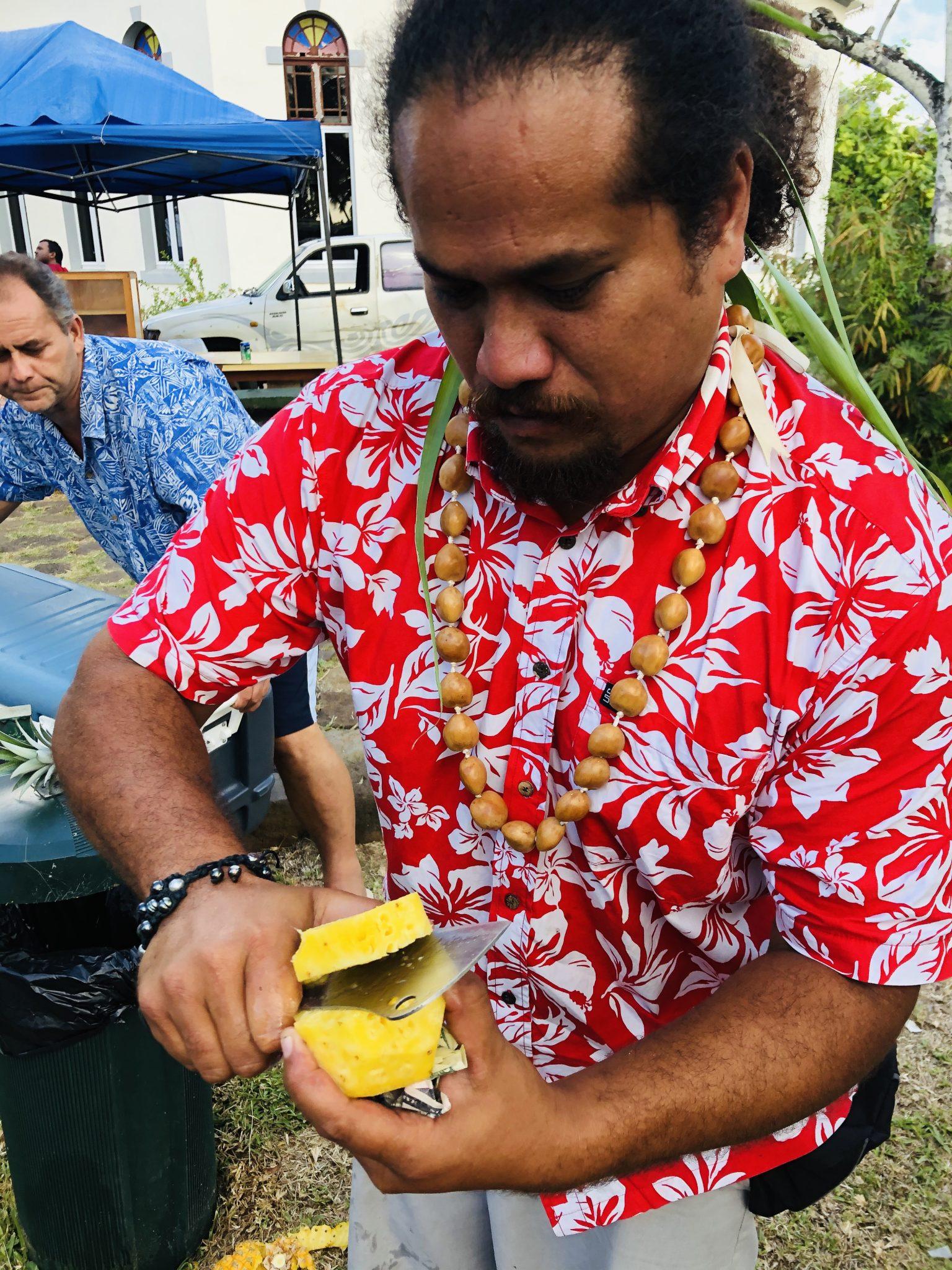 Färsk ananas på Hawaii