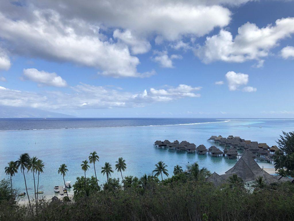 Vy över Papeete Tahiti