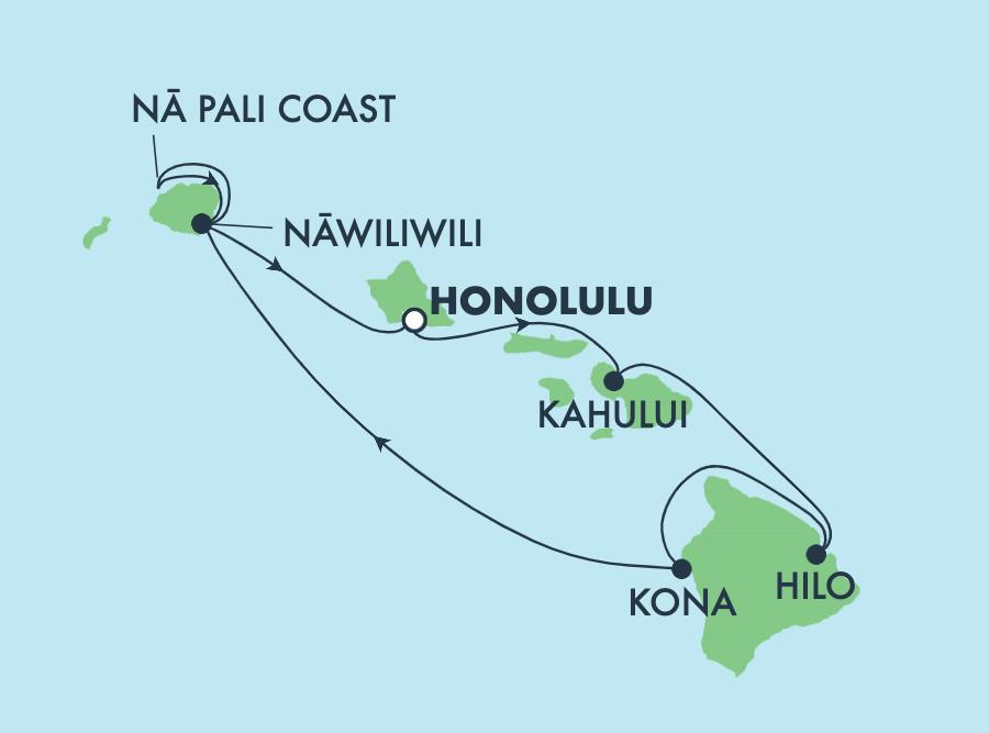 karta över hawaii öarna