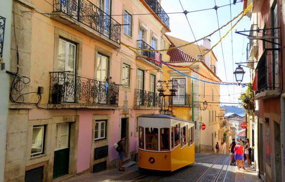 Sparvagn i Lissabon