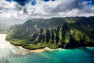 berg vid havet p hawaii