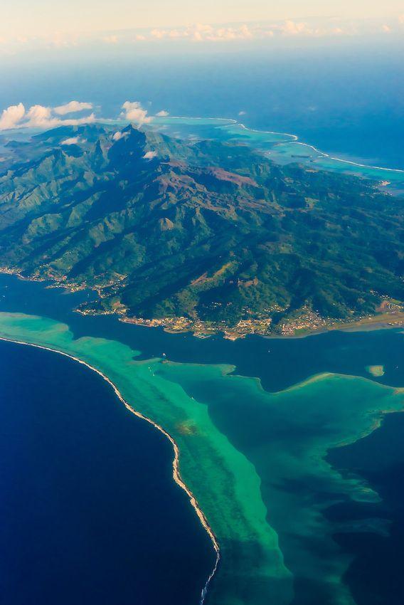 Vy över Raiatea