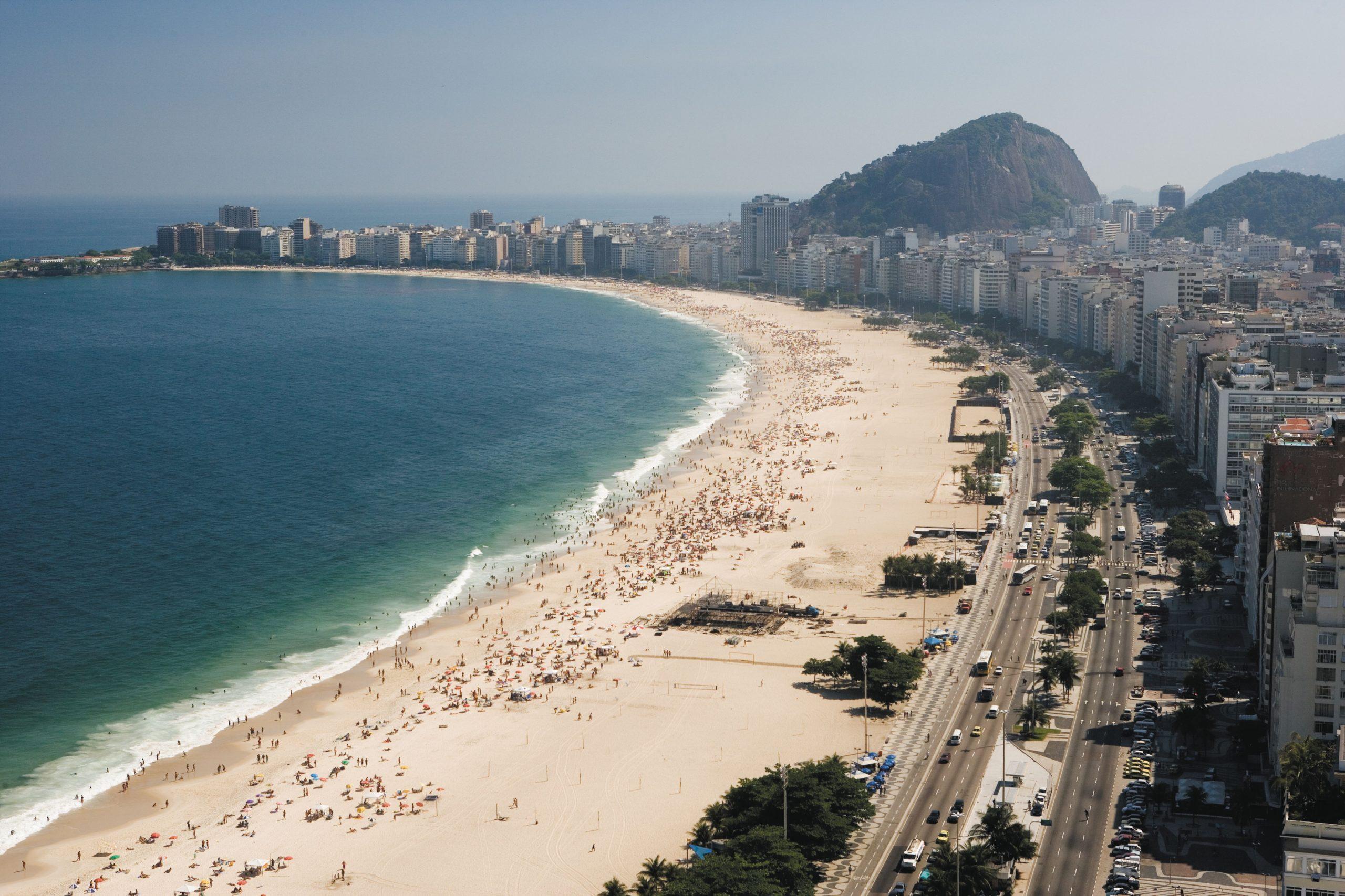 Copacabana på Rio De Janeiro i Brasilien