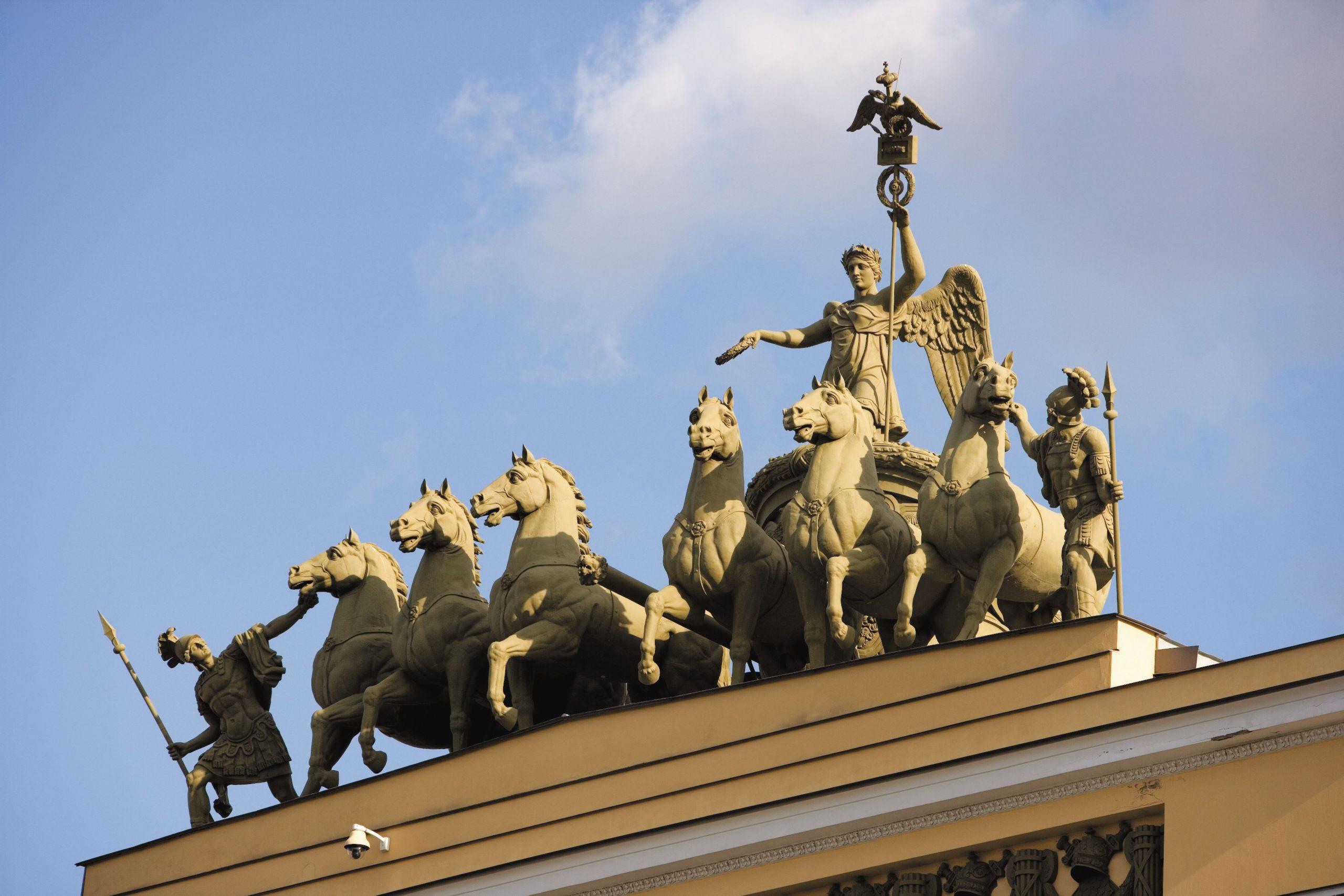 St Petersburg, Palace Square monument