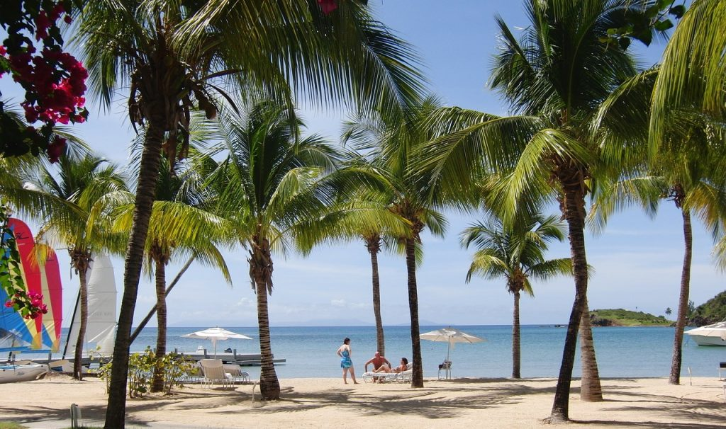strand på Antigua