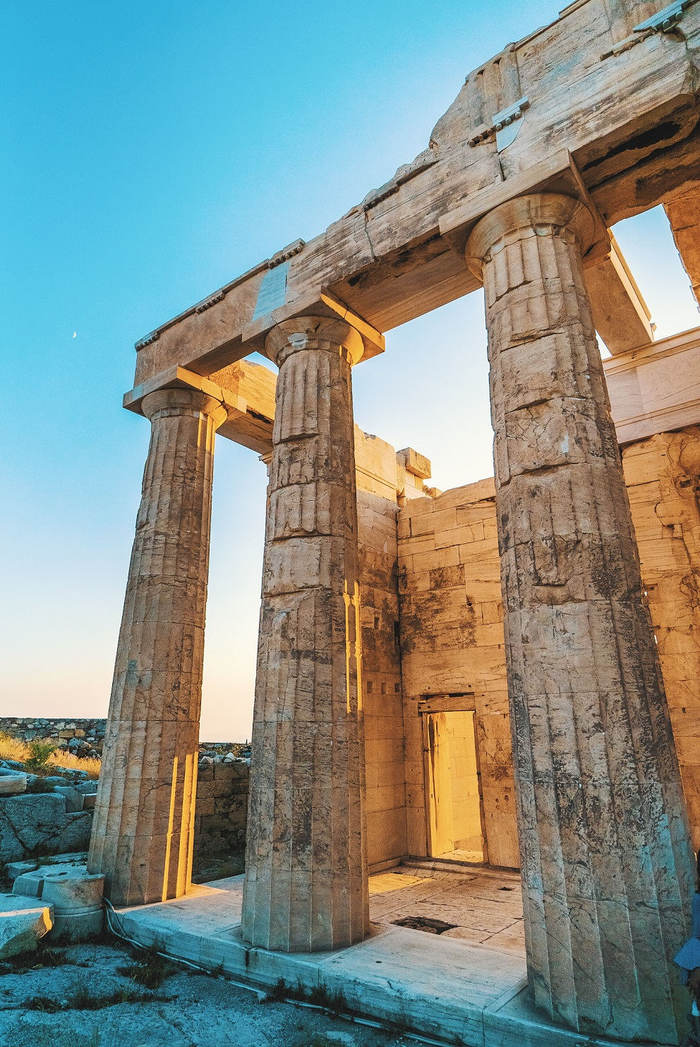 Akropolis i Aten, en historisk ruin