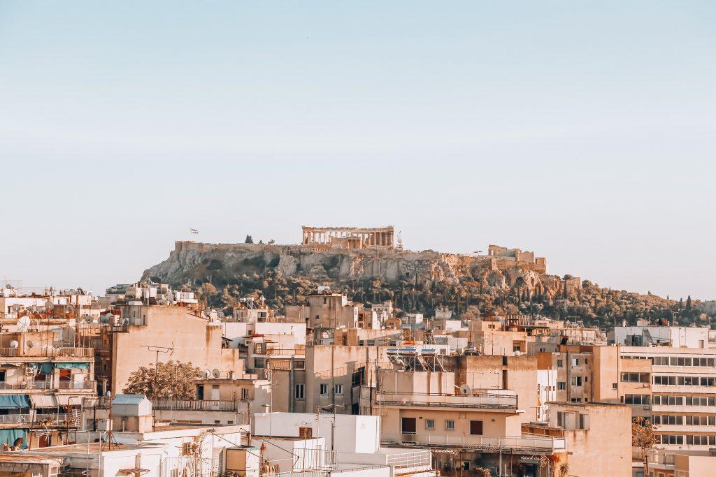 Aten monument i fjärran