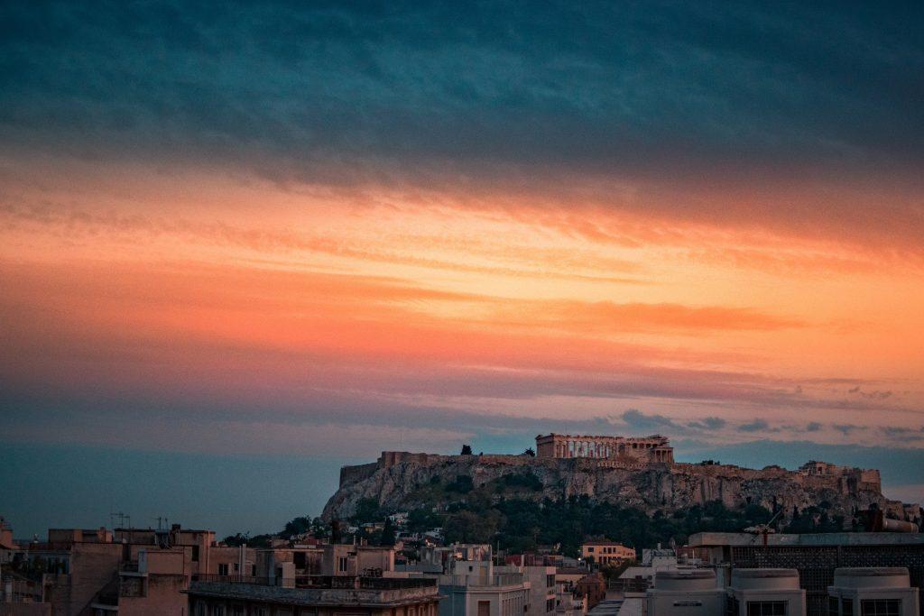 Aten solnedgång