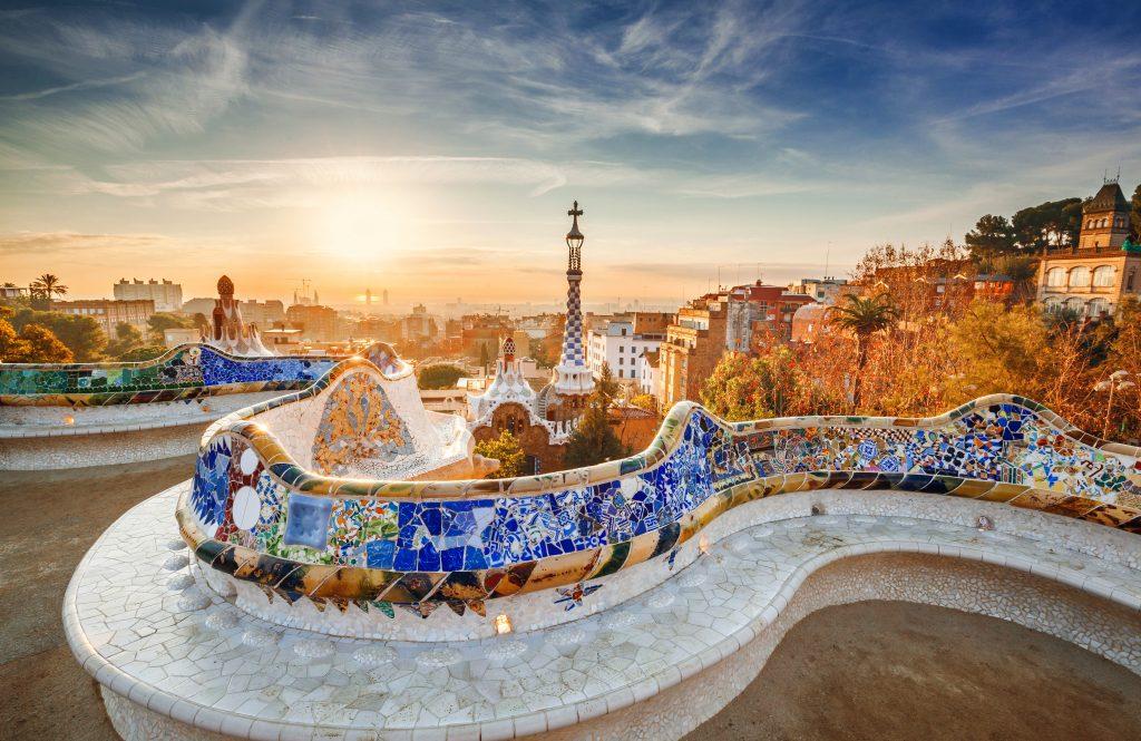 Barcelona stadsvy