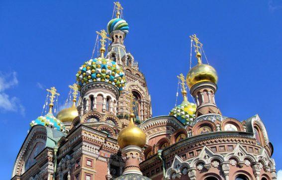 Katedral i St Petersburg Ryssland