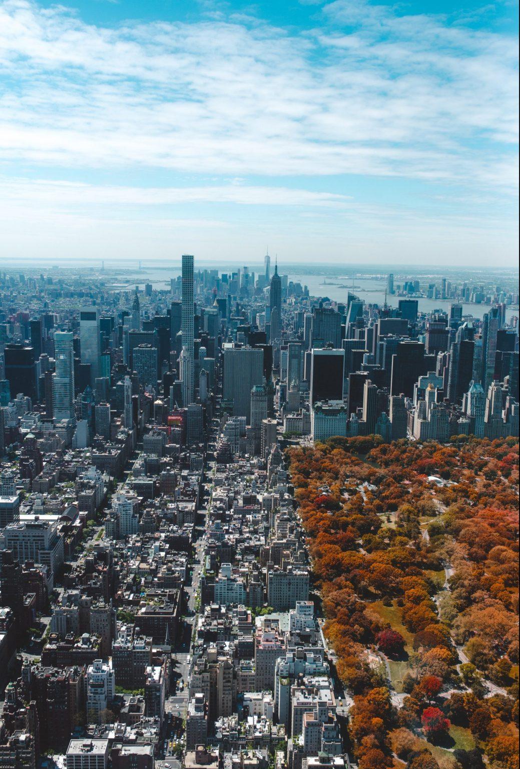 Höstfärger i Central Park i New York City