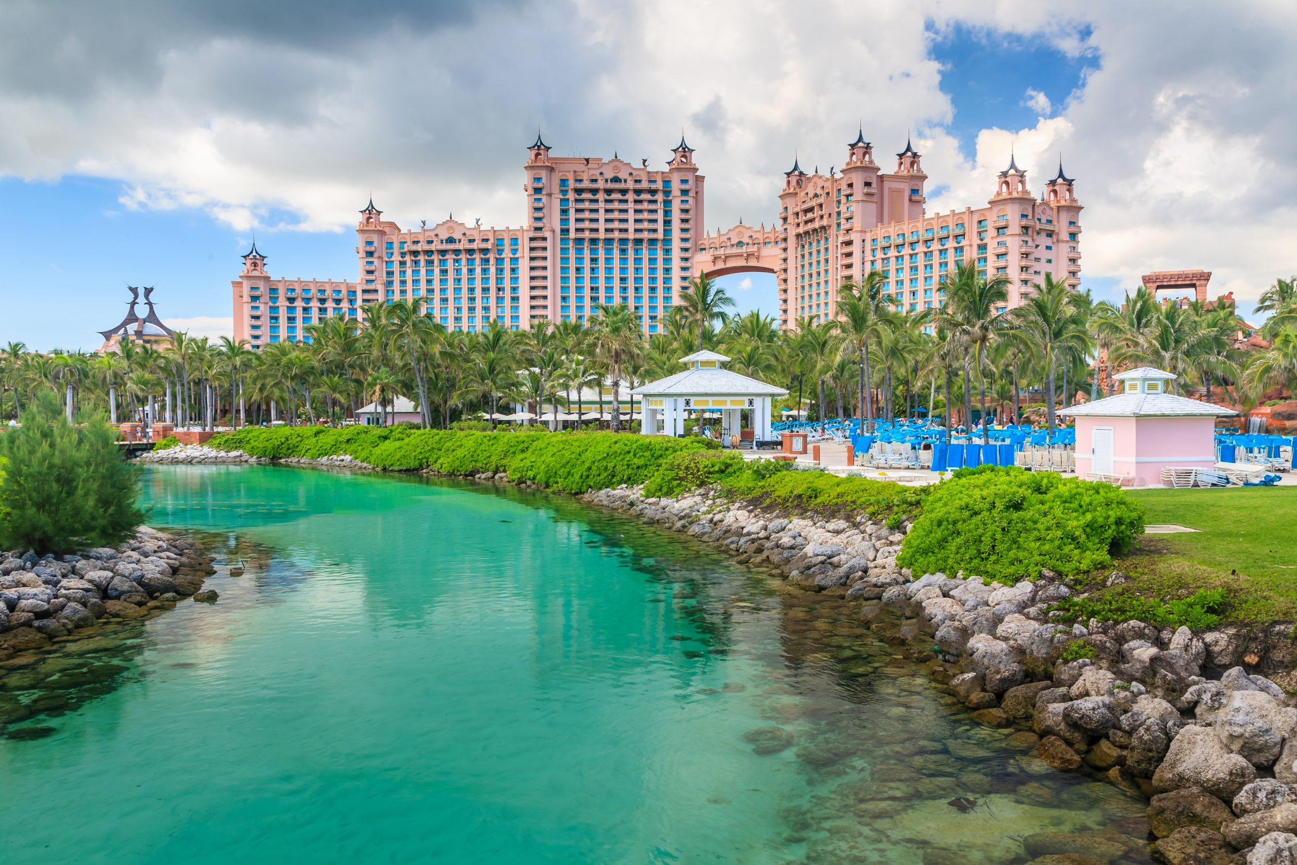 Vckert hotell på Bahamas pier i Nassau city