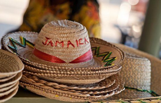Sombrero med text Jamaica Karibien