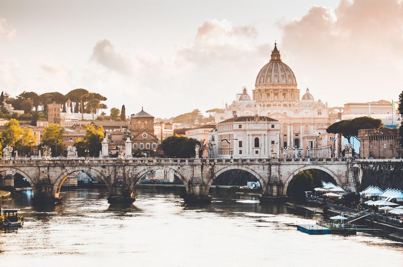 Vy över Rom i Italien