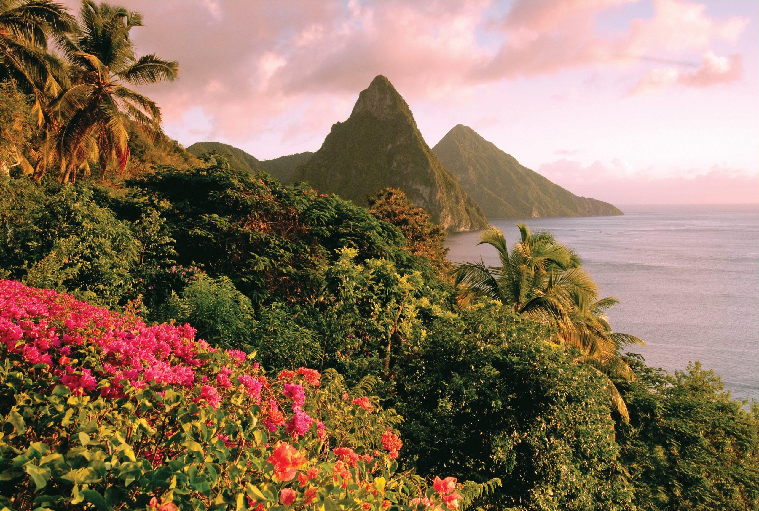 Rosa himmel över Hawaii