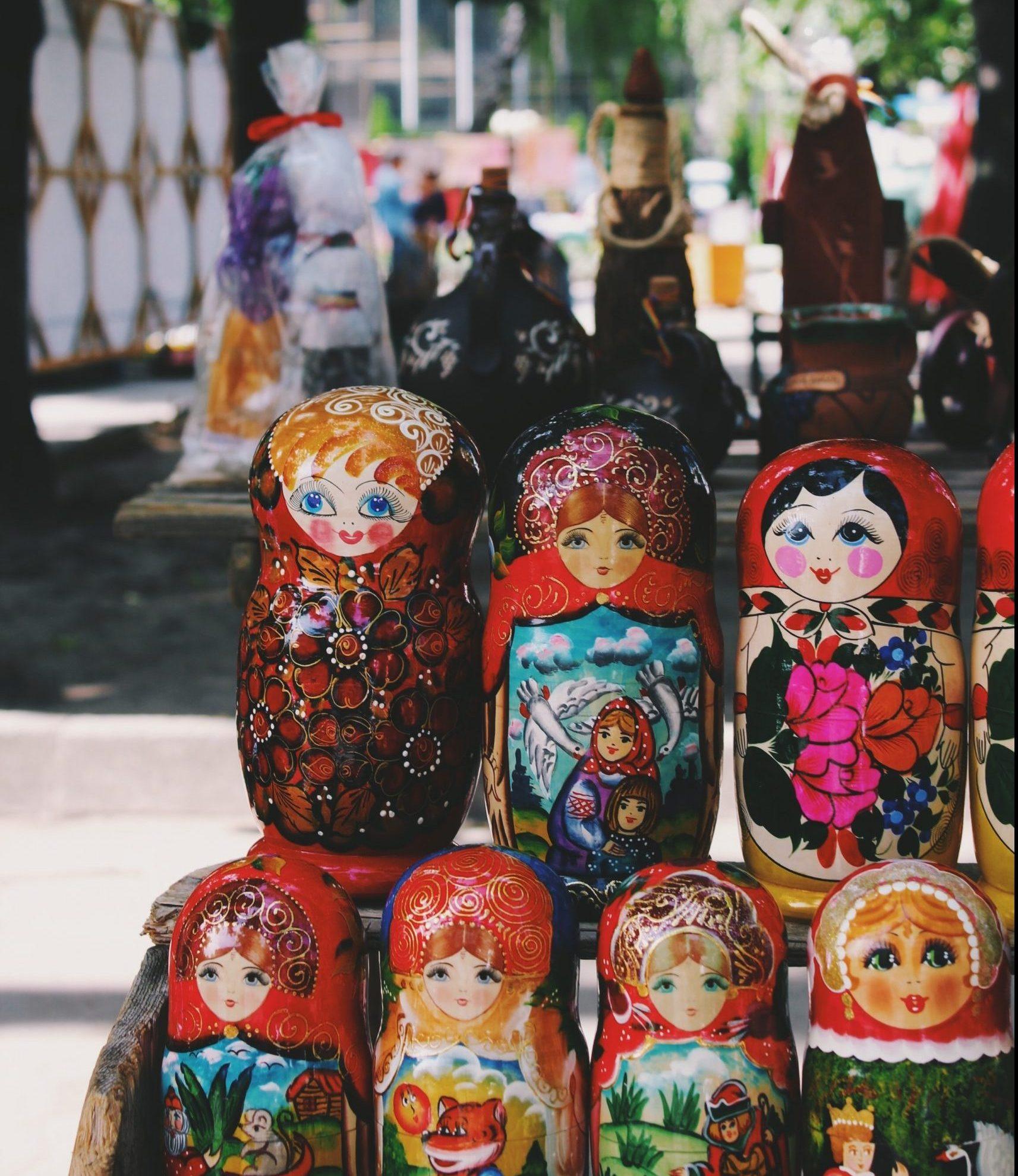 Ryska dockor i St Petersburg