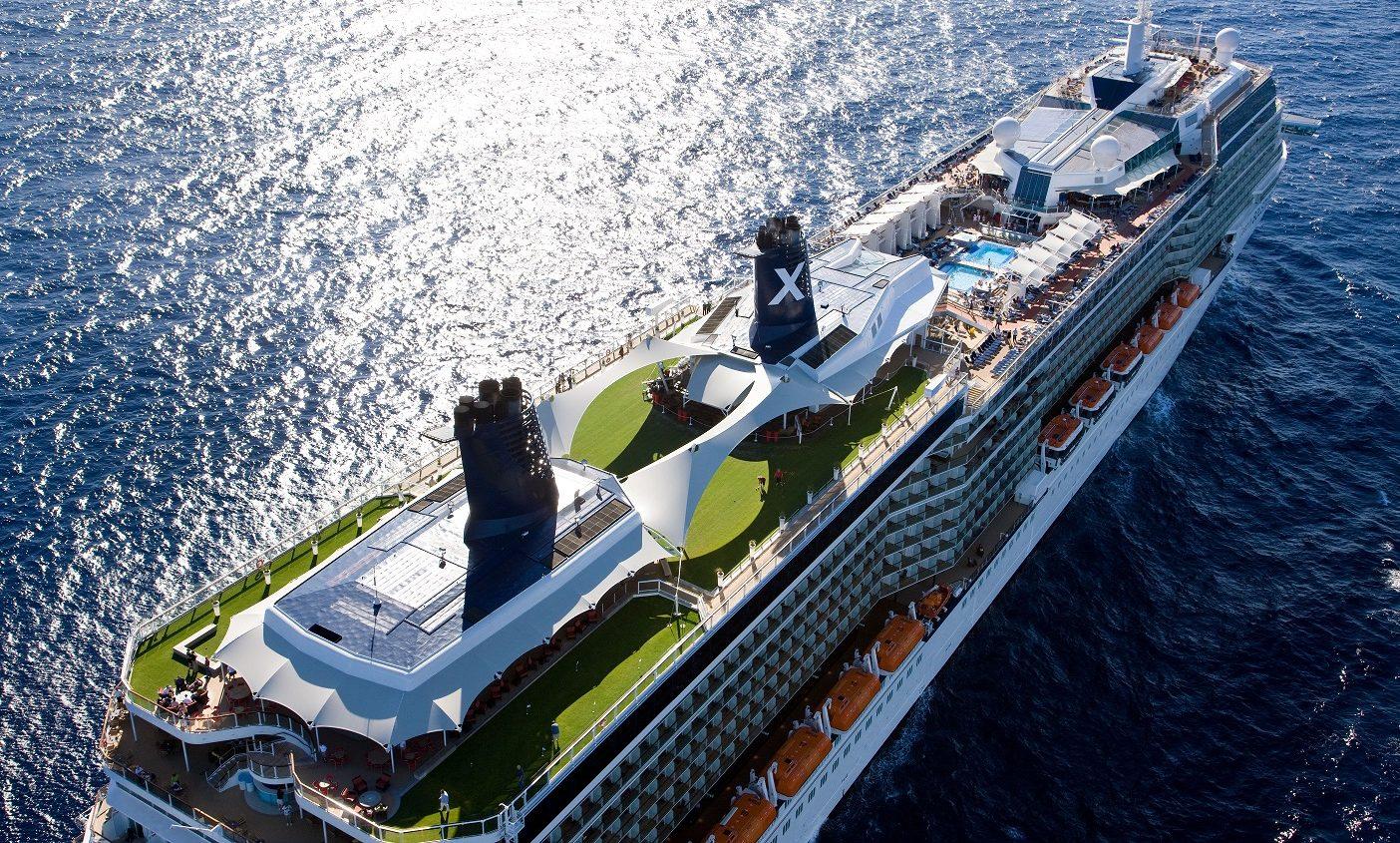 Soldäck vy ombord Celebrity Solstice