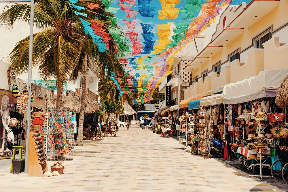 Cozumel city Mexico