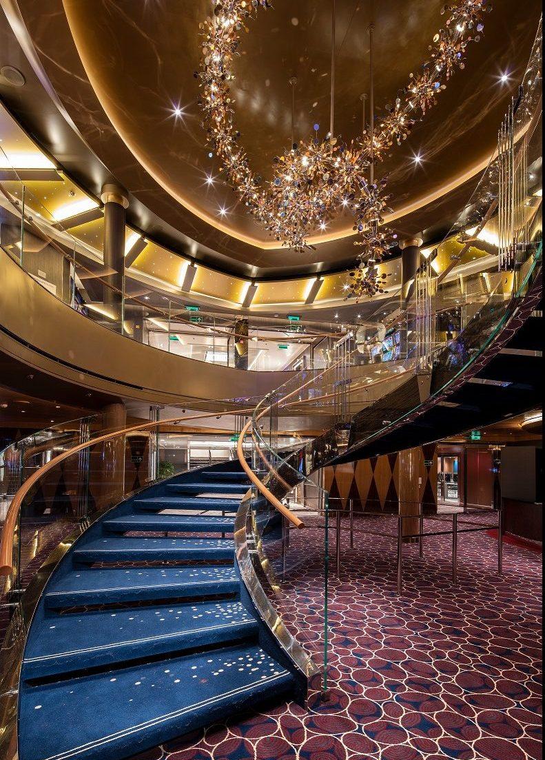 Trappa till Casinot ombord Holland America kryssningsfartyg