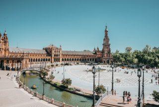 Plaza de España, Sevilla Spanien