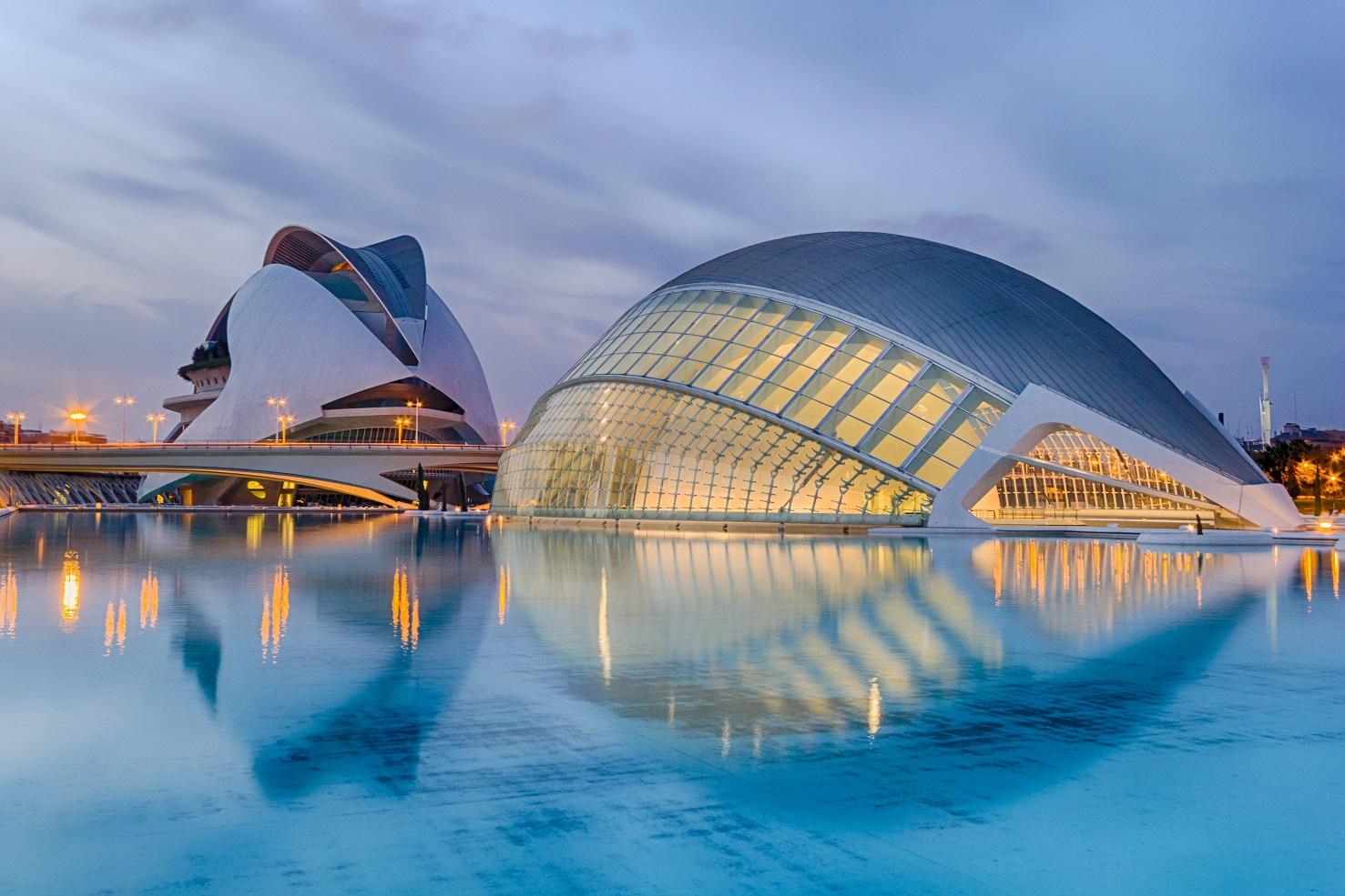 The city of Arts and Science av Calatrava, Valencia, Spanien