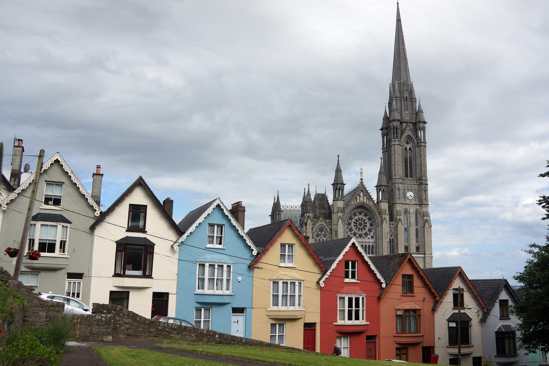 Arkitektur i Cobh Cove Cork Irland