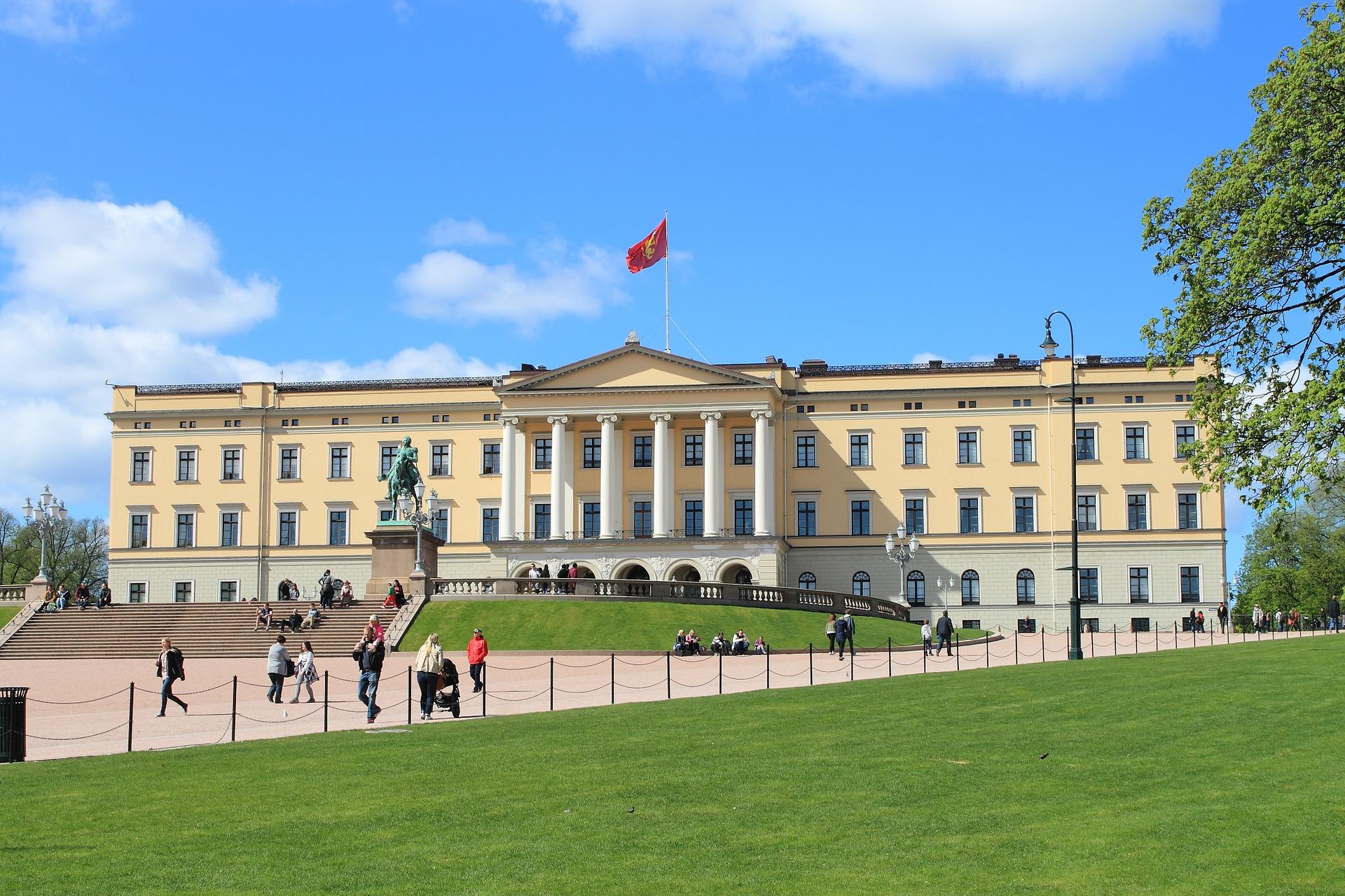 Slottsparken och slottet i Oslo