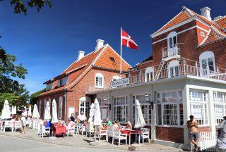 Hus på Skagen i Danmark
