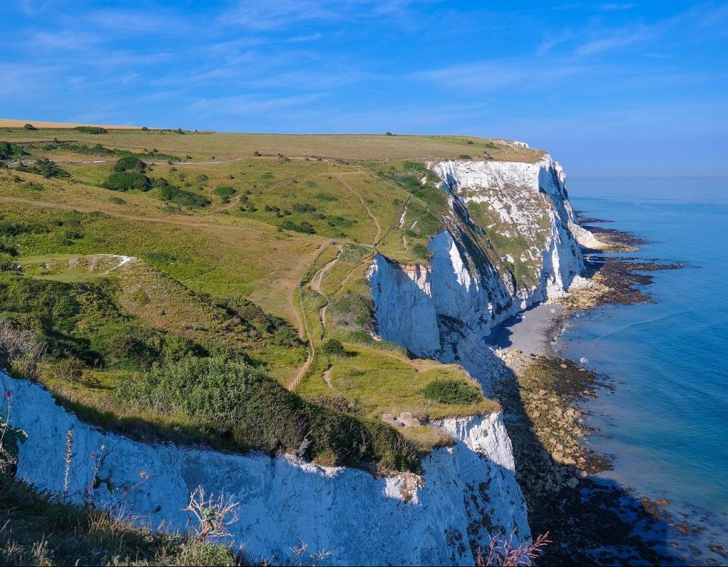 Vita klippor i Dover England