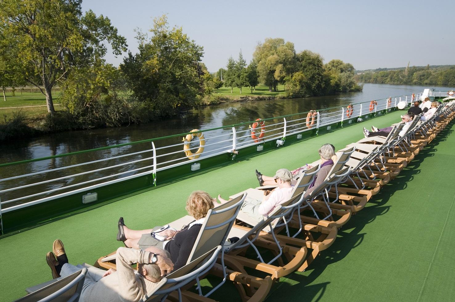 Härliga stunder på däck ombord CroisiEurope kryssning