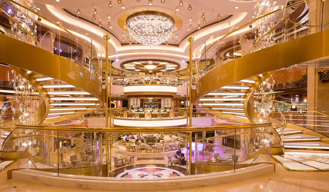 Princess Cruises Princess Royal. Staircase from Piazza