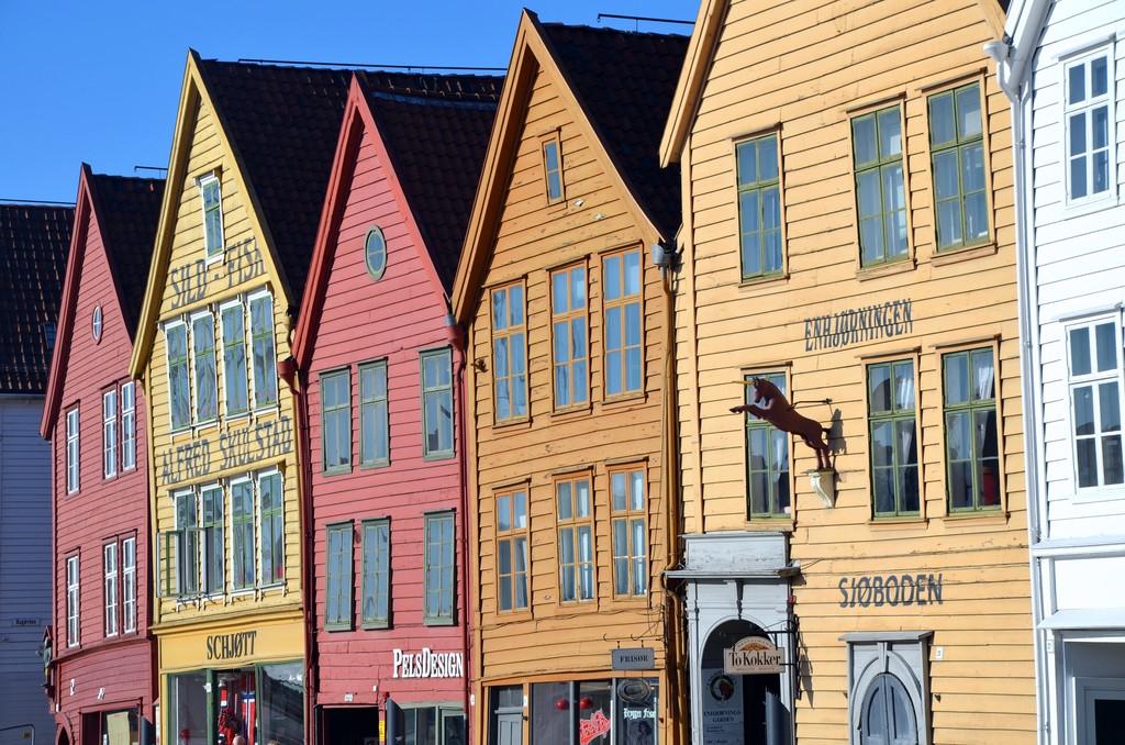 Bryggen i Bergen Norge