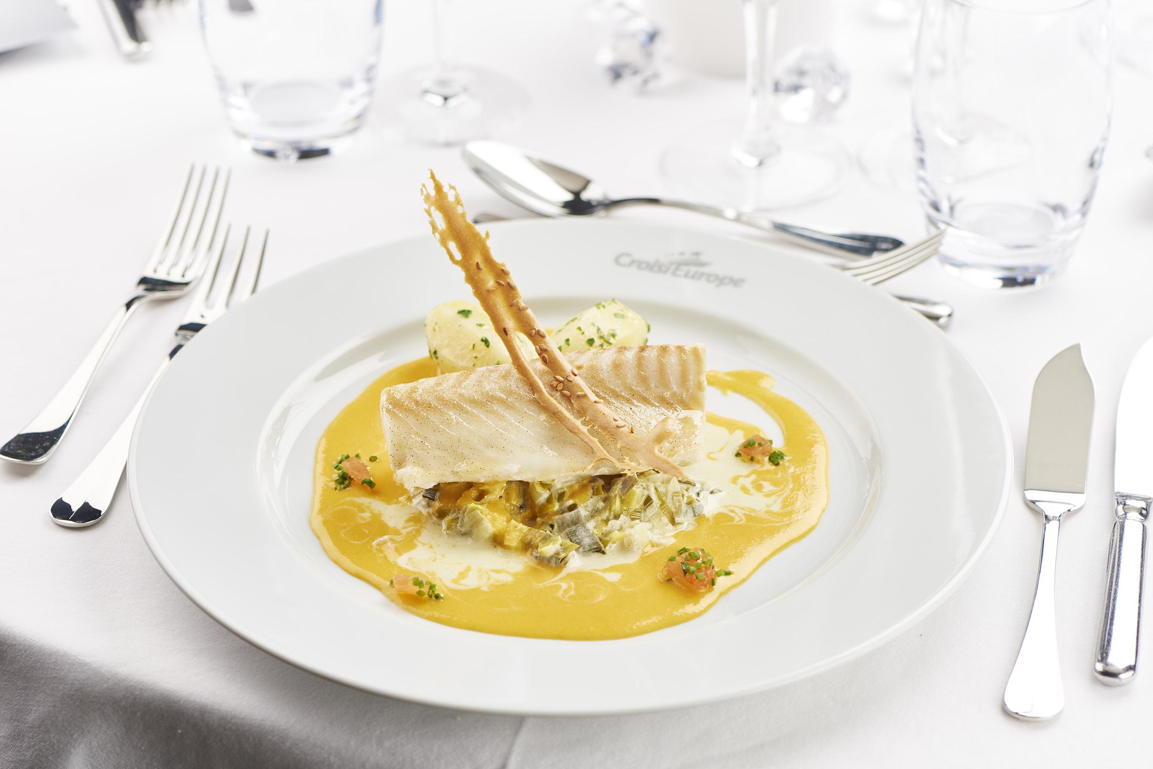 Härlig middag ombord CroisiEurope