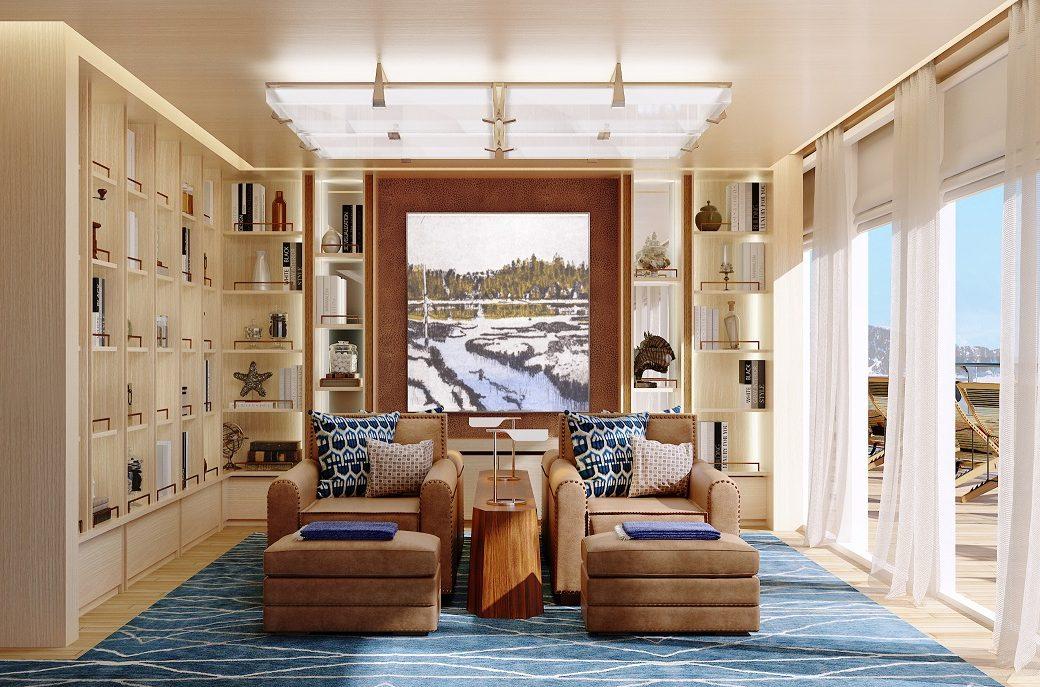 Bibliotek ombord Viking Expedition
