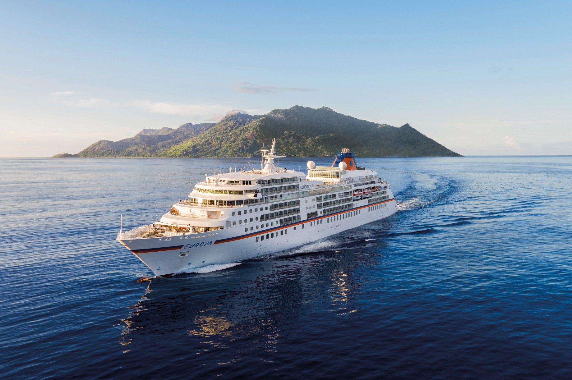 Hapag Lloyd MS Europa i Seychellerna