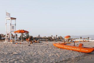 Poetto stranden i Cagliari Sardinien