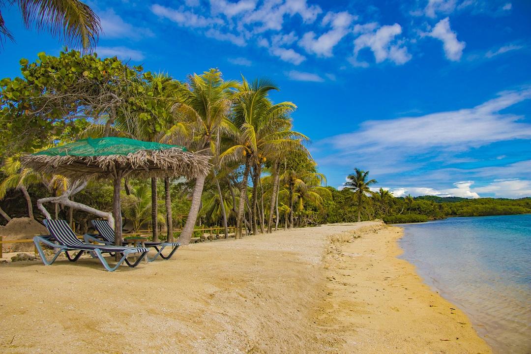 Roatan strand, Honduras