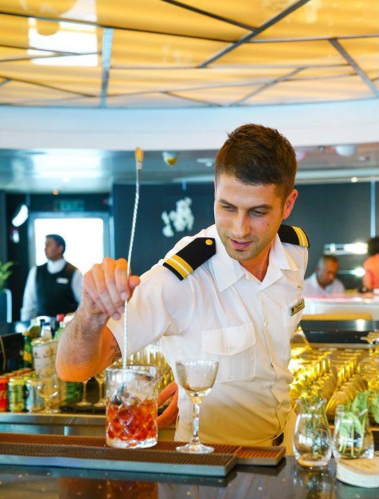 Service ombord Seabourn fartyg